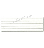 CARRARA RELIEVE STRIPE BIANCO  20X60
